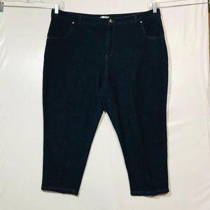 Just Be Stretchy Blue Soft Capri Pants 3X